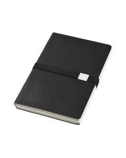 Блокнот А5 Doppio, черный/белый