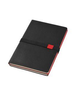 Блокнот А5 Doppio, черный/красный