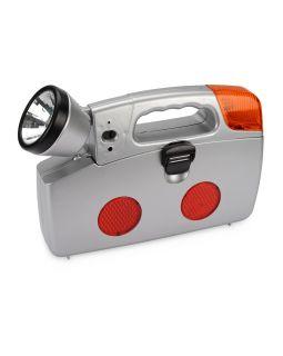 Набор инструментов автомобилиста с фонарем, 14 предметов, серебристый