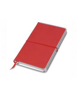 Блокнот Silver Rim красный. Lettertone