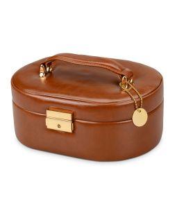 Шкатулка для драгоценностей с дорожным футляром, коричневый