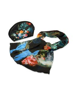 Набор Цветы: косметичка и шарф