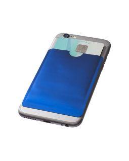 Бумажник для карт с RFID-чипом для смартфона, ярко-синий