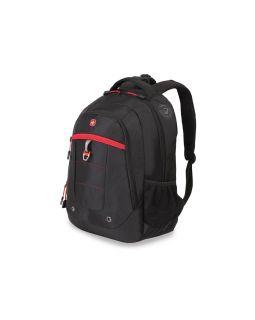 Рюкзак 29л с отделением для ноутбука 15''. Wenger, черный/красный