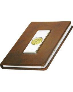 Записная книжка Голова льва А6 Luigi Pesaresi, коричневый