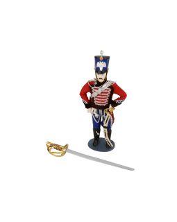 Набор Гусарская баллада: декоративная кукла, нож для бумаг, коричневый/разноцветный