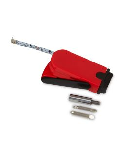 Набор инструментов Branch с рулеткой, красный