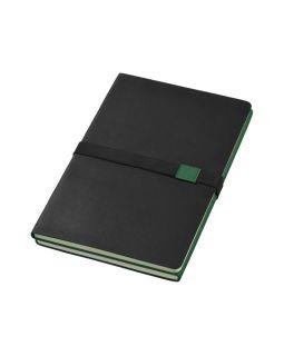 Блокнот А5 Doppio, зеленый/черный