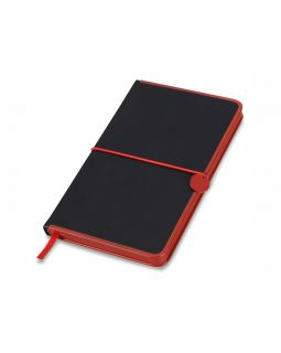 Блокнот А5 Color Rim, черный/красный. Lettertone