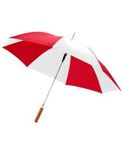 Зонт-трость Lisa полуавтомат 23, красный/белый (Р)