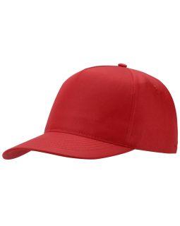 Бейсболка Poly 5-ти панельная, красный