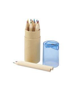 Набор карандашей 12 единиц, натуральный/голубой