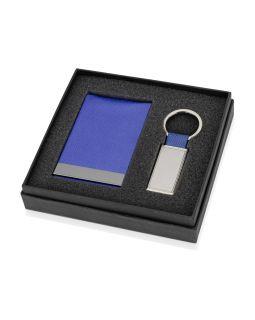 Набор Лонгвью: визитница, брелок, синий