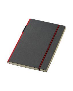 Блокнот А5 Cuppia, черный/красный