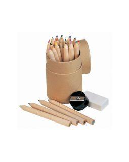 Набор из 24 карандашей с точилкой и ластиком