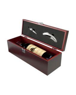Коробка для вина Executive с пробкой для бутылки и штопором