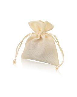 Мешочек подарочный, искусственный лен, малый, натуральный