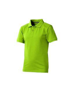 Рубашка поло Calgary детская, зеленое яблоко
