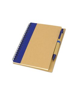 Блокнот Priestly с ручкой, синий