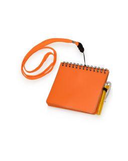 Блокнот А6 Журналист с ручкой, оранжевый