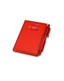 Записная книжка Альманах с ручкой, красный