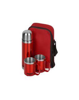 Набор Походный: термос, 2 кружки, красный