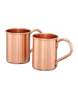 Набор кружек для коктейля с рецептом Moscow mule