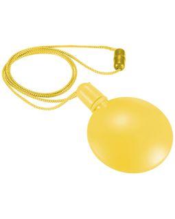 Круглый диспенсер для мыльных пузырей, желтый