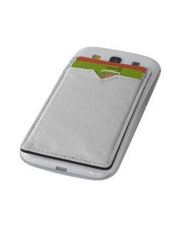 Бумажник RFID с двумя отделениями, серебристый